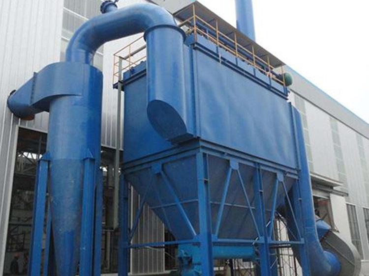 工业粉尘收集器+旋风除尘器使用中